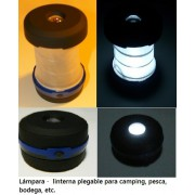 LÁMPARA / LINTERNA LED PARA CAMPING, PLEGABLE