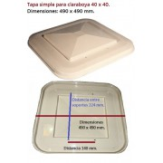 Repuesto TAPA SIMPLE para claraboya 40 x 40.