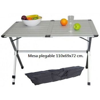 Mesa plegable de aluminio para 4 personas gap less 110 x for Mesa plegable 4 sillas