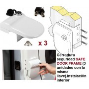 KIT 3 SAFE DOOR FRAME BLANCO FIAMMA CERRADURA DE SEGURIDAD