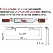 PORTAMATRICULA con luces  LICENCE PLATE CARRIER