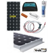 KIT PLACA SOLAR 100W VECHLINE