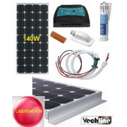 KIT PLACA SOLAR 120W VECHLINE