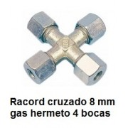 CRUCE 4 RACORD 8MM. KR-8 (tipo Hermeto)